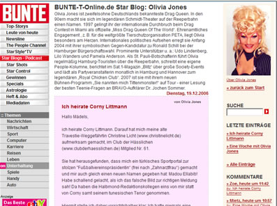 Olivia Jones Blog